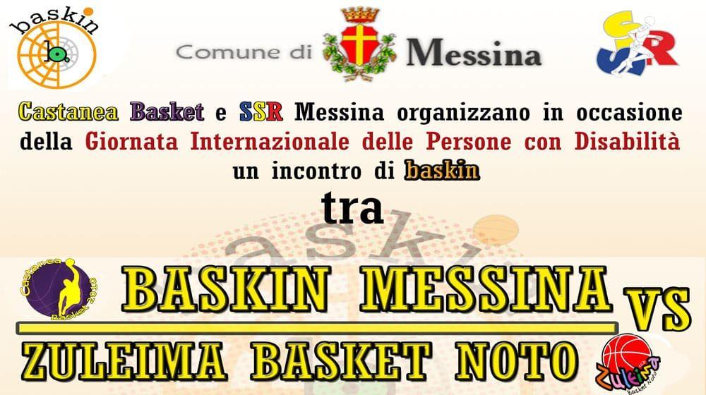 Domeica 2 Dicembre il baskin si presenta a Messina !