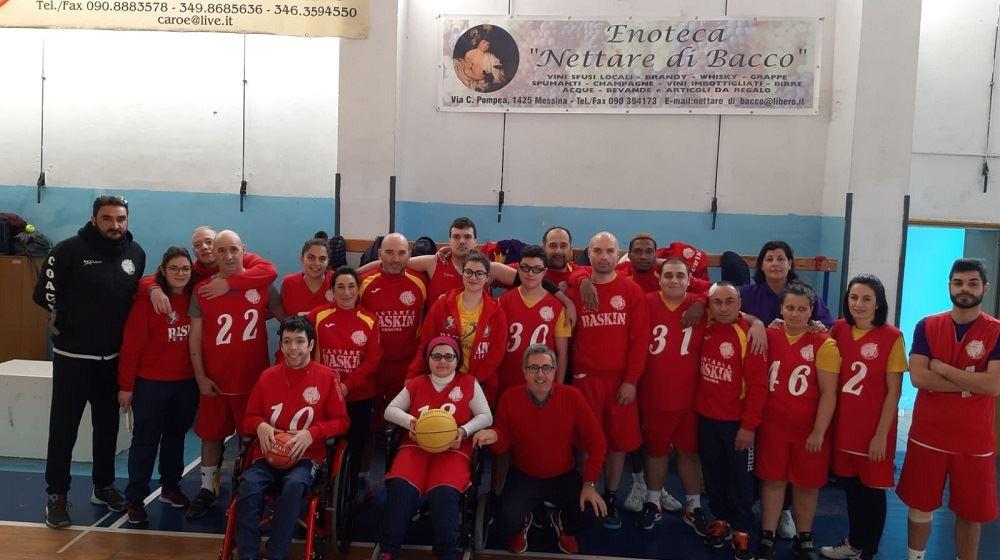 La squadra dell'SSR Baskin Messina alle finali regionali.