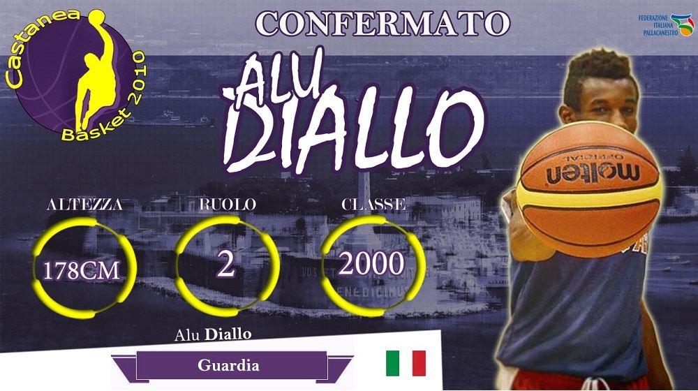 Confermato Alu Diallo�� il Vice Capitano del Castanea Basket.