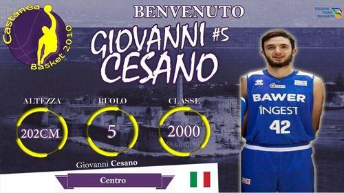 Giovanni Cesano nuovo lungo Castanea Basket